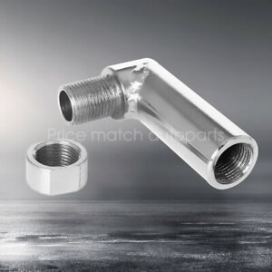 Exhaust 90 Degree Adjust O2 Sensor Defouler Extension Spacer Extender Adapter