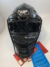 New! Rawlings CoolFlo Cfa2 Youth Hockey Style Catchers Helmet / Mask - Black