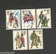 1983 Great Britain SC #1022-1026 Historic Military Uniforms MNH