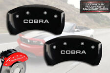"2011-2012 Ford Mustang Shelby GT350 Rear Black MGP Brake Caliper Covers ""Cobra"""