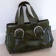 70er Jahre Tasche Handtasche Henkeltasche Kunstleder grün