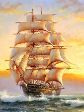 Full drill Diamond Painting Sailing Boat Sea Landscape Fashion Handicraft 6284X