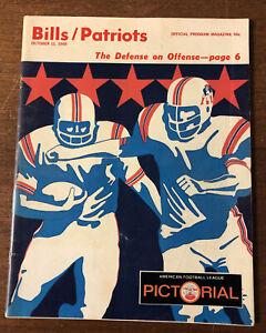1969 Buffalo Bills AFL Program vs Boston Patriots War Memorial Stadium