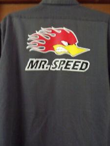 MR. Speed Hotrod Mechanic~Shop Shirt Used/Recycled Size X-Large Rat Rod