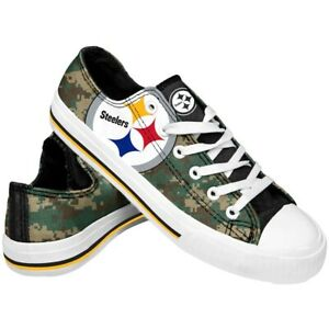 Pittsburgh Steelers Men's Low Top Digital Camo Canvas Shoes