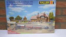 Faller Bahnhof-Set Rosenstein 5 Gebäude Bausätze HO OVP in Folie (21246)