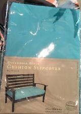 Bench Cushion Slipcover - Baltic Blue