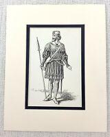 1889 Antico Stampa The Bandito Duca William Shakespeare Costume Come You Come It
