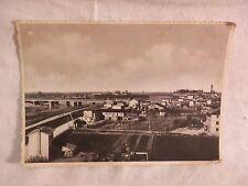 Vecchia foto cartolina d epoca di Latisana panorama campagna case vista su da di