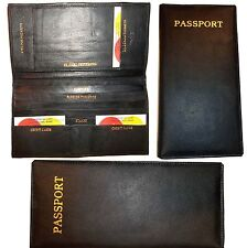 Leather Organizer. Checkbook passports credit cards bills stamps currency wallet
