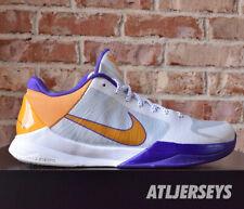 Nike Zoom Kobe Bryant V 5 Lakers Home White Del Sol Purple 386429-102 Size 12