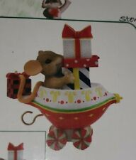 Charming Tails MOUSE TRAIN CAR FIGURINE many gifts are on their way new Enesco
