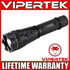 VIPERTEK Stun Gun VTS-195 - 500 BV Metal Heavy Duty Rechargeable LED Flashlight <br/> 500 Billion Stun Gun + LIFETIME WARRANTY + FREE Case