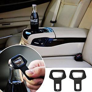 Car Vehicle Safety Seat Belt Buckle Insert Warning Alarm Stopper+Opener Decor