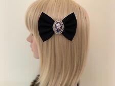 Marilyn Manson hair bow clip rockabilly pin up girl gothic vintage retro black