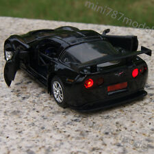 "Alloy Diecast Car Model Chevrolet Corvette CR-6 Black 5""  Toy Sound&Light Gifts"