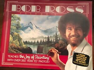 BOB ROSS, JOY OF PAINTING, SERIES 5, Companion TV BOOK, -THIRTEEN FAB PAINTINGS