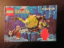 Lego Aquazone 6140/6109 Stingray Crab INSTRUCTION MANUAL ONLY Vintage Set 1998