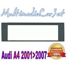 Mascherina Autoradio Audi A4 A 4 da 2001 a 2007 1 Din Nera Radio 3267 *