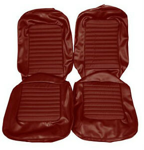 Ford Mustang Standard Seat Trim Kit Dark Red 1966 66 Fastback 289 200 Hi Po GT