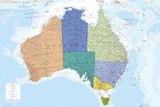 Poster Map - Landkarte - Australia - Australien  91,5x61cm NEU 57432