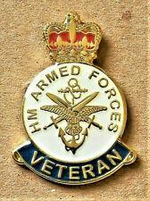 BRITISH ARMED FORCES ENAMEL PIN BADGE UK VETERAN REMEMBRANCE DAY 2019  POPPY DAY