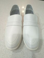 Bates White - Men Size 12 W Leather Loafers  Uniform Dress Shoes