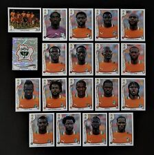 Panini FIFA World Cup Brazil 2014 Complete Team Ivory Coast + Foil Badge