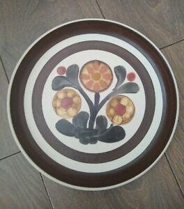 "Vintage 1960s Denby Stoneware 10"" Dinner Plate Mayflower VGC"