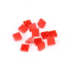 Square Button Cap Red For 12x12x73mm Push Button Switch Tact Micro Switch Diy