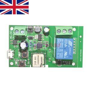 DC 5V-12V Jog self-lock Smart WiFi Wireless Switch Relay Module By APP Control