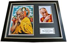 DALAI LAMA Signed FRAMED Photo Autograph 16x12 Display HOLY TENZIN GYATSO & COA