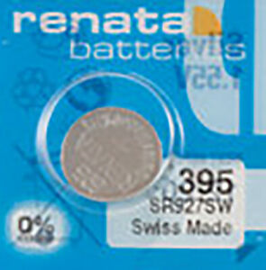 1 x Renata 395 Watch Batteries, SR927SW Battery | Shipped from Canada