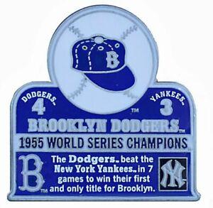 1955 World Series Commemorative Pin - Dodgers vs. Yankees