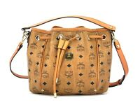 MCM Schultertasche Bucket Drawstring Bag Cognac Gold Tasche