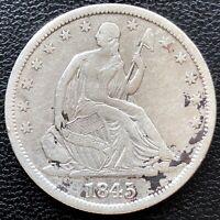 1845 O Seated Liberty Half Dollar 50c High Grade XF - AU Det. #19588