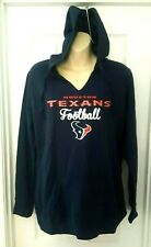 HOUSTON TEXANS Womens Hoodie Size Small or Large Blue Sweatshirt Silver Sparkle