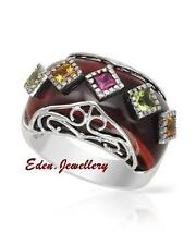 US$360 FPJ Lovely Ring Citrine Garnet Peridot Tiger Eyes Sterling Silver 70% OFF