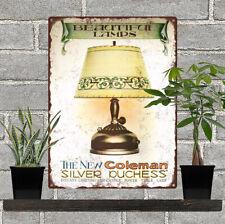 "Coleman Silver Puchess Lamp Garage Man Cave Metal Sign 9x12"" 60761"