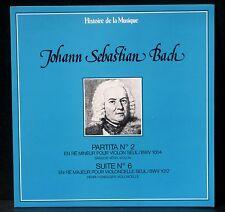 Bach Partita violon 2 Sandor Vegh Suite cello 6 Henri Honegger CV & LP NM