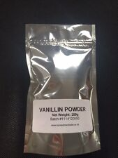 250g Vanillin powder - food grade Pure Powder- Baking- Flavouring - Free postage