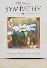 With deepest sympathy greetings card, daisy, flowers, suitable for anyone, new
