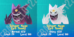 GENGAR NORMAL / ⚡SHINY⚡ PERFECT 6IV - POKEMON LETS GO PIKACHU AND EEVEE