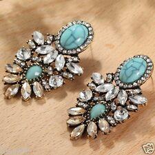 Ear Stud Hoop earrings 147 Wholesale 1pair Multi-color Crystal Rhinestone Long