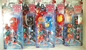 MARVEL COLLECTIBLE POP UPS DISPENSERS NEW IN BLISTER PACK