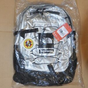 Supreme TNF Silver Metallic Borealis Back pack NEW DS SS18 100% Authentic