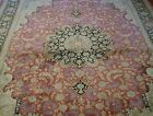 """EXCELLENT 100% SILK HAND KNOTTED PREMIUM QUALITY ORIENTAL RUG CLEANED  6'6""""x10'"""
