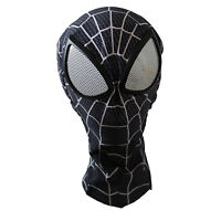 Man Black Spider-man Mask with Lenses Adult Halloween Party Accessory