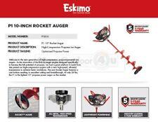 "P1R10 Eskimo 10"" Rocket Propane Power Ice Auger Warranty 5 Years"