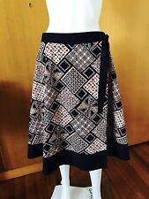 Sussan-Patchwork Print-Cotton Wrap Skirt-Size 14
